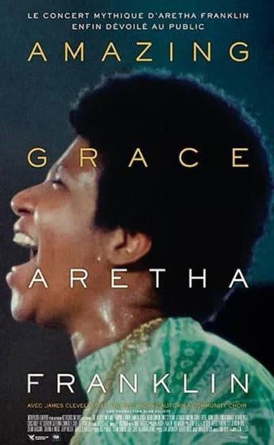 Affiche française de Aretha Franklin Amazing Grace, pour sa sortie exceptionnelle dans les cinéma CGR