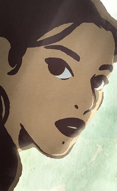 Photo tirée du film d'animation de Zabou Breitman, Les hirondelles de Kaboul