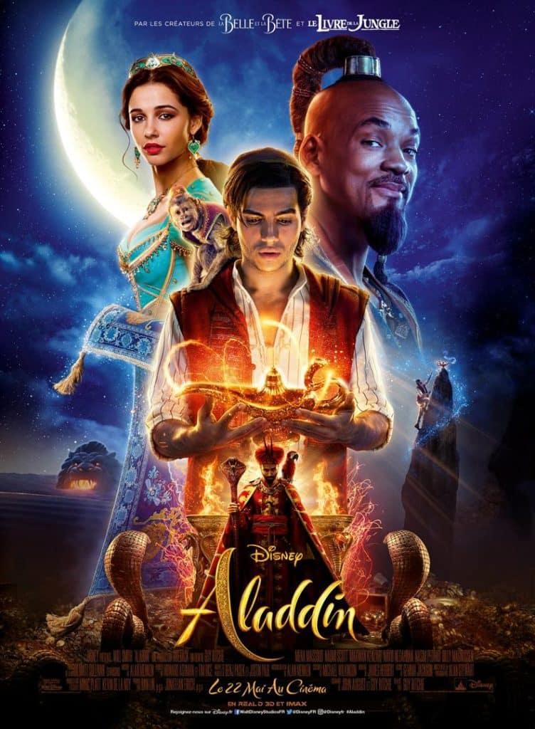 Affiche du remake live d'Aladdin, avec Will Smith