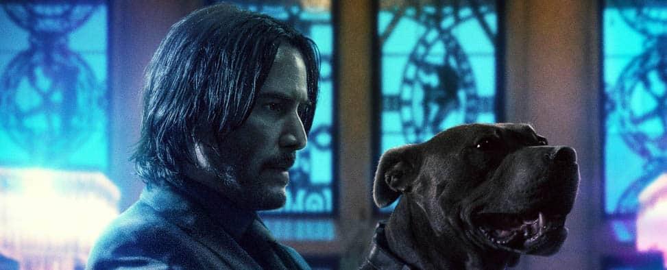 Extrait d'une affiche teaser de John Wick 3, avec Keanu Reeves