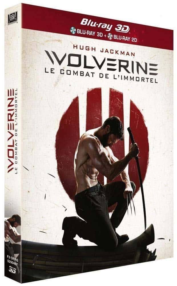 Wolverine le combat de l'immortel, blu-ray 3D jaquette