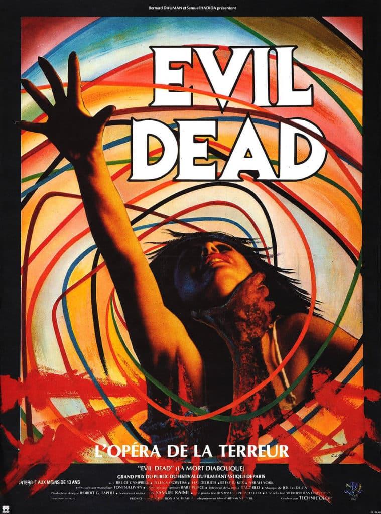 Affiche française originale du film Evil Dead, l'opéra de la terreur