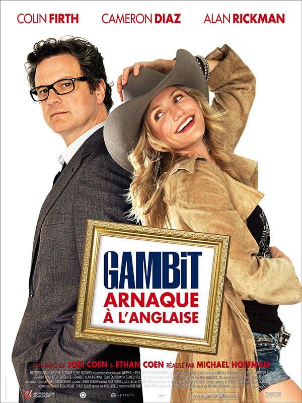 Affiche Gambit Arnaque à l'anglaise