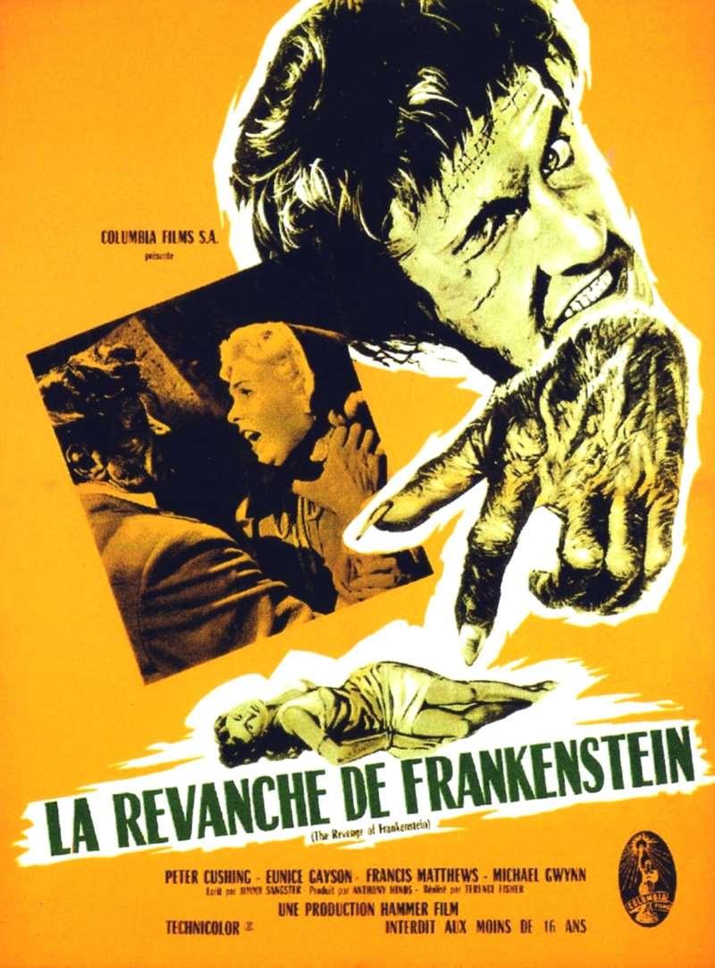 La revanche de Frankenstein, l'affiche de 1958