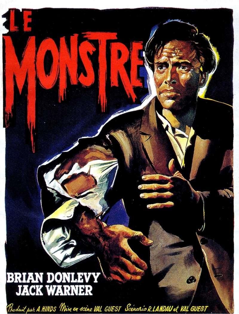 Le monstre de Val Guest, affiche belge