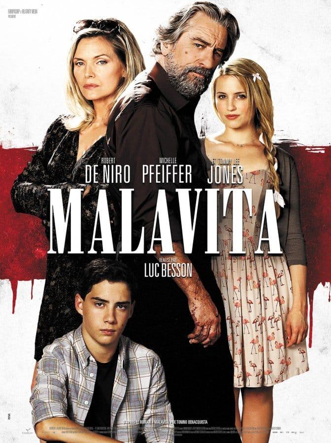 Malavita de Luc Besson, l'affiche