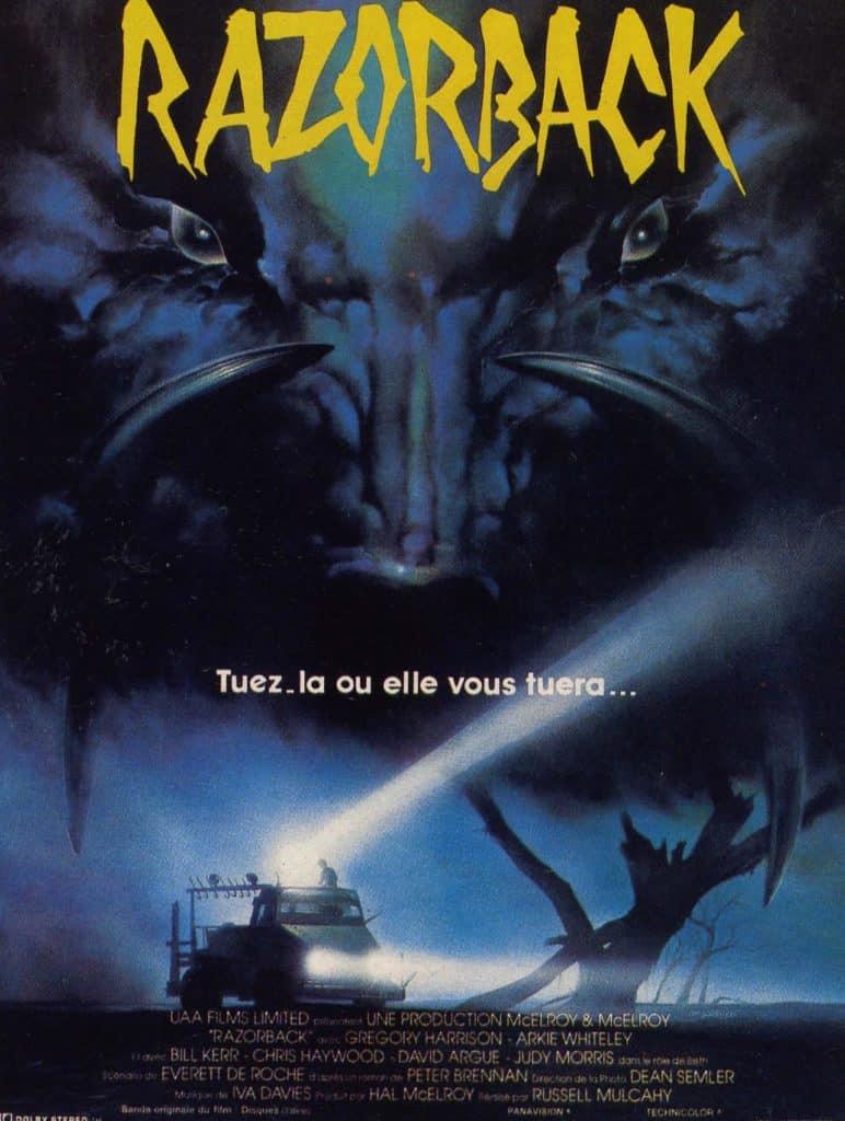 L'affiche française cinéma de Razorback en 1986