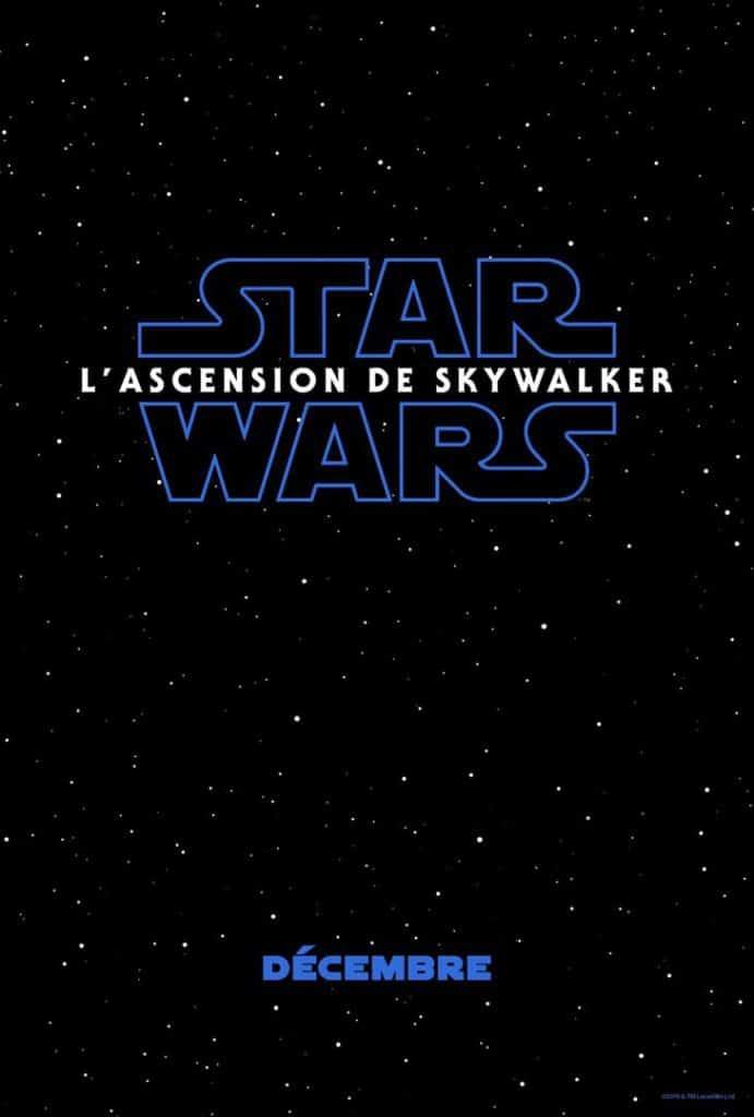 Affiche teaser de Star Wars lascension de Skywalker