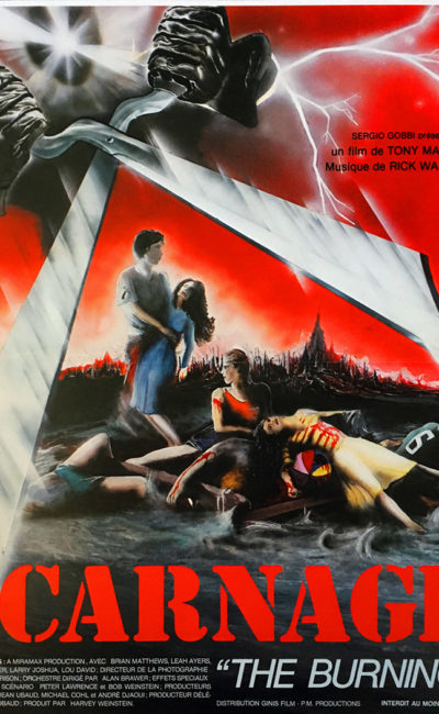 Affiche originale Carnage The Burning 1982