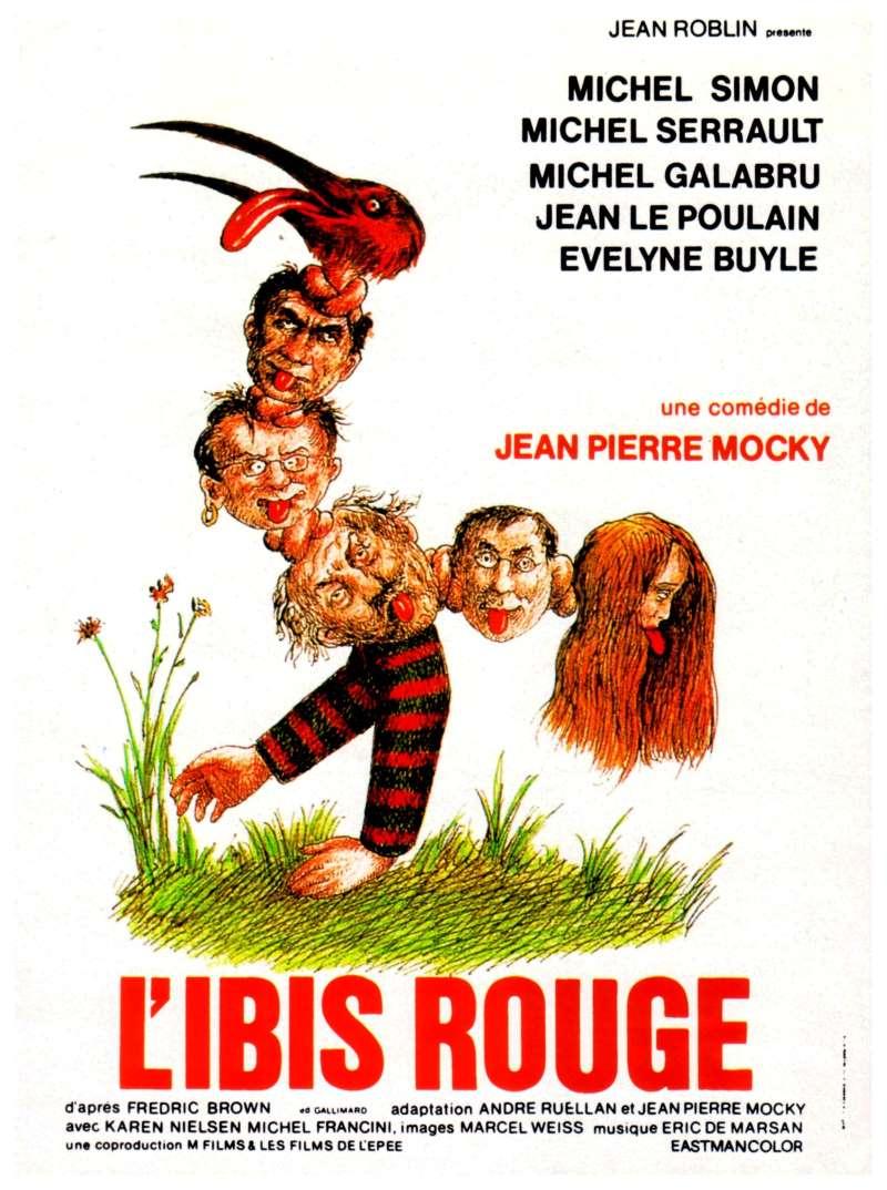 L'ibis rouge, l'affiche de Topor