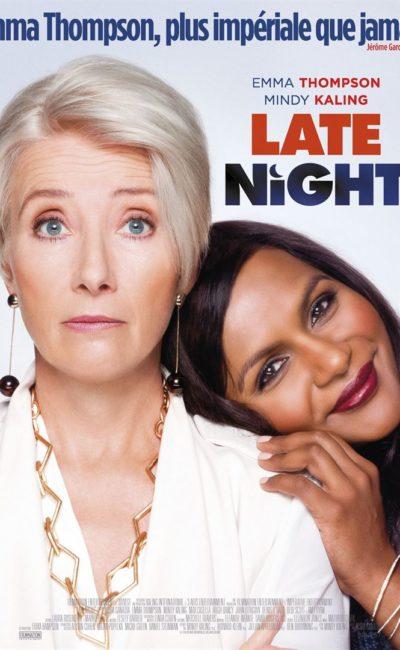 Late Night avec Emma Thomson, affiche française du film