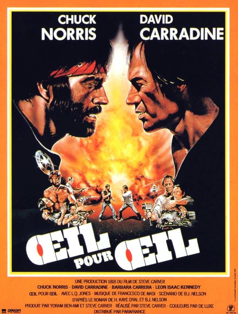 Oeil pour Oeil, affiche du film avec Chuck Norris (1983)