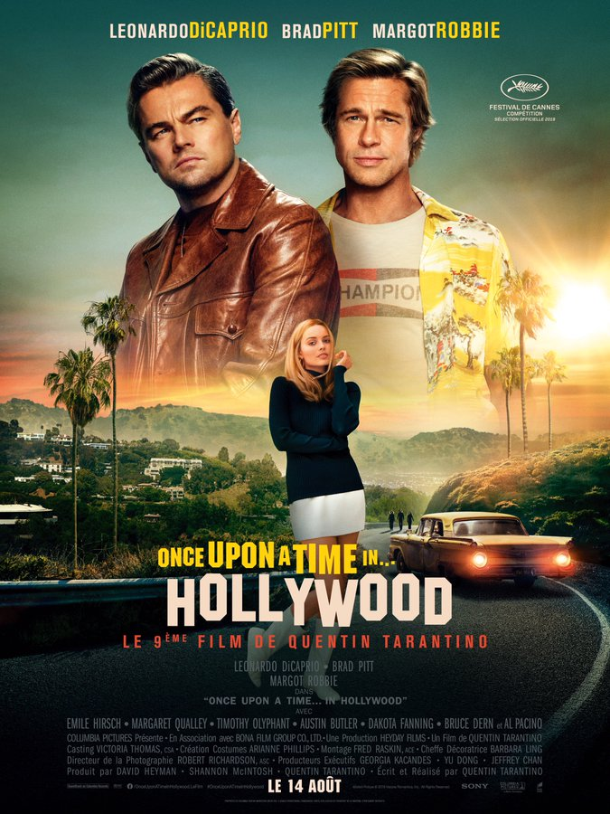 Affiche française de Once upon a time in Hollywood