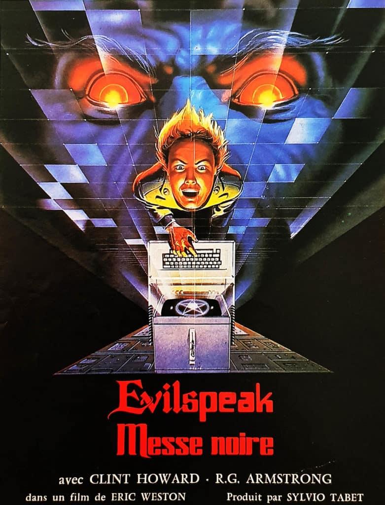 Evil Speak, jaquette VHS de Messe Noire