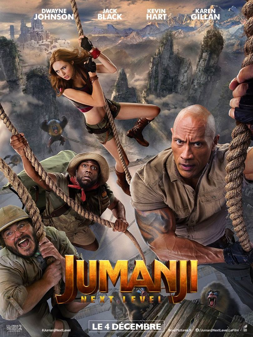 Jumanji next level, affiche de la suite du reboot