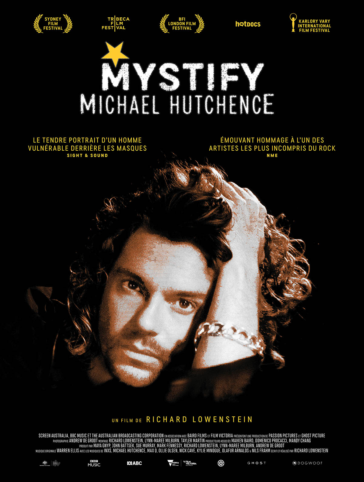 Mystify Michael Hutchence, affiche du documentaire sur INXS