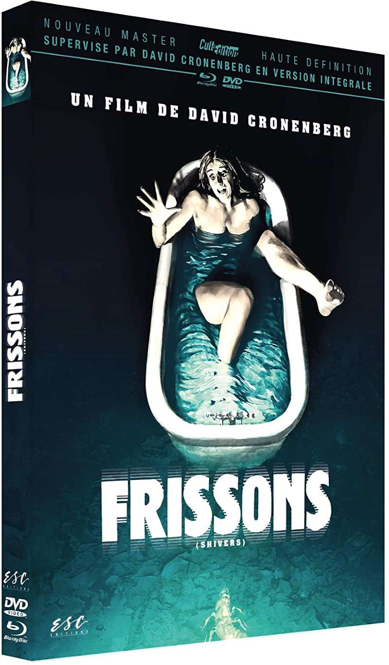Frissons, jaquette du combo DVD / Blu-ray